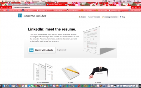 Build resume using linkedin for dating